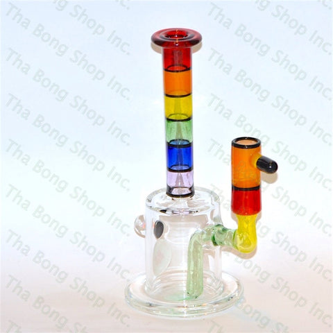 Thatcher Glass Rainbow Minitube Red Lip - Tha Bong Shop