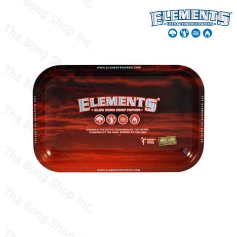 Elements Red Metal Rolling Tray - Tha Bong Shop