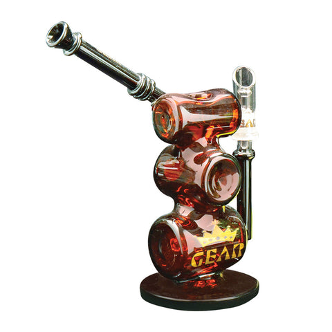 GEAR 9 Inch Tall Inline Triple Stack Concentrate Bubbler - Tha Bong Shop