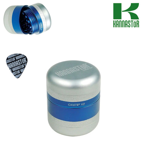 KANNASTÖR GR8TR V2 SERIES GRINDER – 2.125″ ELECTRIC BLUE