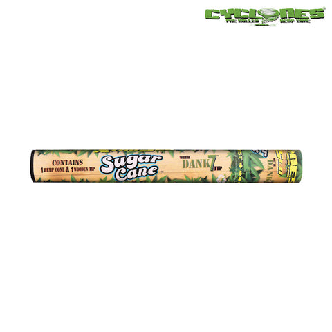 Cyclone Sugar Cane Prerolled Hemp Blunt Wrap With Dank 7 Wooden Tip - Tha Bong Shop
