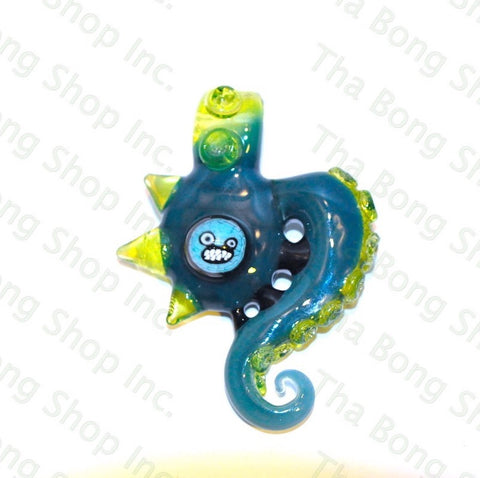 Lerma Glass UV Tentacle Pendant With Milli Face - Tha Bong Shop