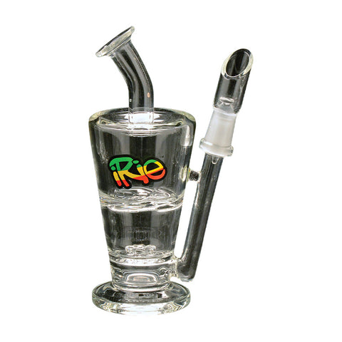 IRie 5 Inch Tall Easy-Up Concentrate Bubbler With Wagon Wheel And Turbine Percs - Tha Bong Shop