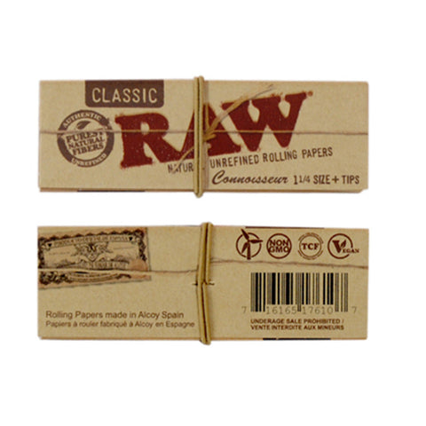 RAW 1 1/4 Connoisseur With Tips - Tha Bong Shop