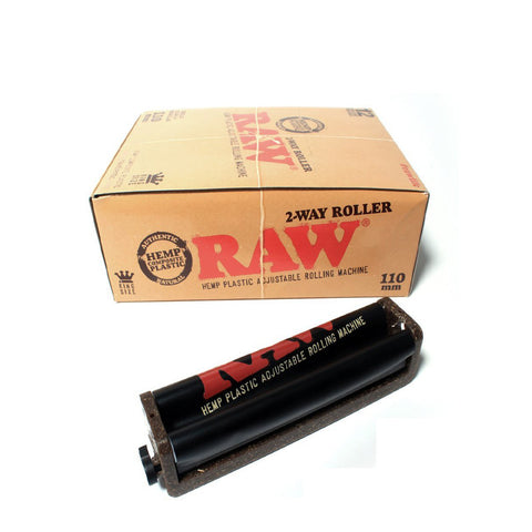 RAW Hemp Adjustable Plastic Roller 2 Way 110mm - Tha Bong Shop
