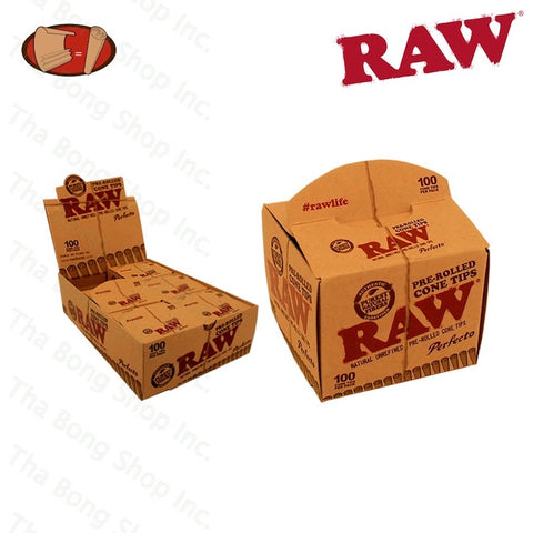 RAW Pre Rolled Cone Tips Perfecto 100 Pack - Tha Bong Shop