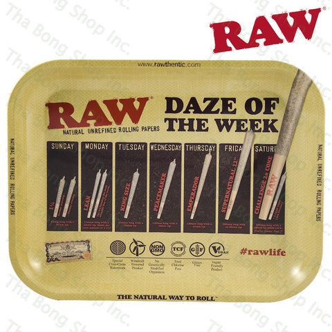RAW® Daze Of The Week Metal Rolling Tray - Tha Bong Shop