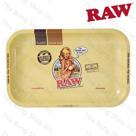 RAW Bikini Girl Metal Rolling Tray - Tha Bong shop