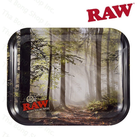 RAW® Smokey Trees Metal Rolling Tray - Tha Bong Shop
