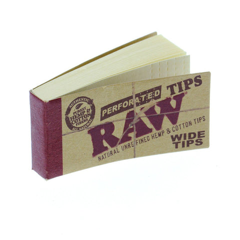 RAW Tips Wide Perforated - Tha Bong Shop