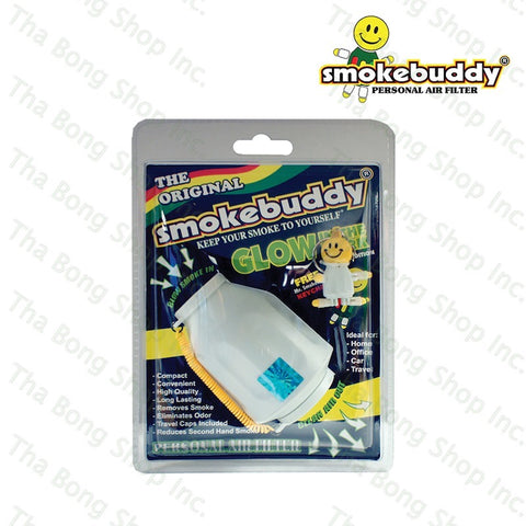 SmokeBuddy White Glow In the Dark Series Personal Air filter - Tha Bong Shop