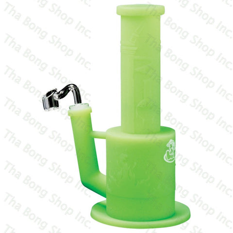 "LIT Silicone Removable Honeycomb Perc 9"" Tall Concentrate Water Pipe - Tha Bong Shop"