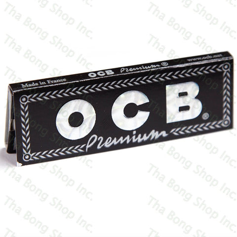 OCB Premium Black Flax 1 1/4 Rolling Papers - Tha Bong Shop