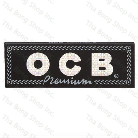 OCB Premium Black Flax Single Wide Single Feed Rolling Papers - Tha Bong Shop