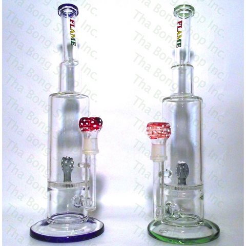 Flame Glass Vicious Vine Honeycomb Perc Bong - Tha Bong Shop