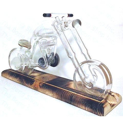 Barracuda Glass Clear Chopper Rig - Tha Bong Shop
