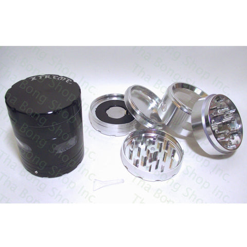 Xtreme 5 Piece Metal Grinder With Vibrating Pollen Chamber - Tha Bong Shop