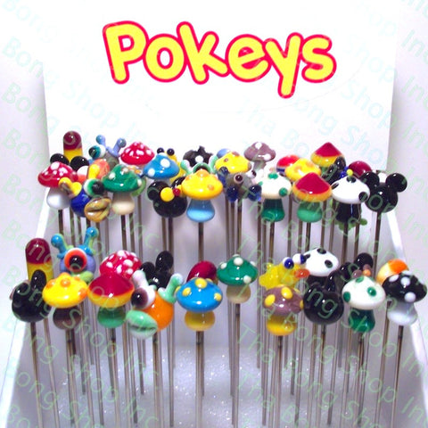 Pokeys Glass Tip Metal Dabbers - Tha Bong Shop