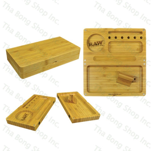 RAW® Bamboo Backflip Magnetic Rolling Tray - Tha Bong Shop