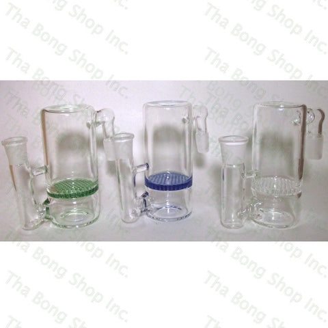 SALE ITEM 14mm Honeycomb  90 Degree Ashcatcher - Tha Bong Shop