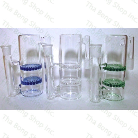 SALE ITEM 14mm Dual Disc Perc 90 Degree Ashcatcher - Tha Bong Shop