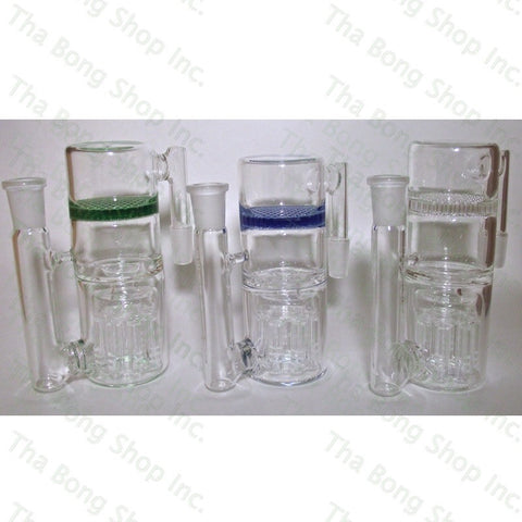 SALE ITEM 14mm  Reverse Tree to Honeycomb  90 Degree Ashcatcher - Tha Bong Shop