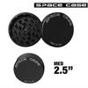 MEDIUM SPACE CASE BLACK MATTE  2 PIECE MAGNET GRINDER - THA BONG SHOP