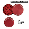 LARGE SPACE CASE RED MATTE  2 PIECE MAGNET GRINDER - THA BONG SHOP