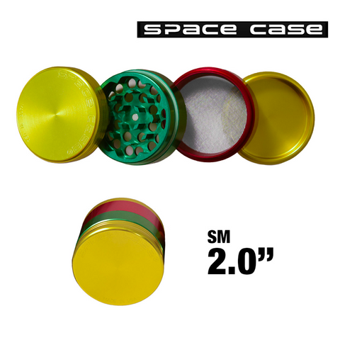 SMALL SPACE CASE RASTA POLLINATOR GRINDER - Tha Bong Shop