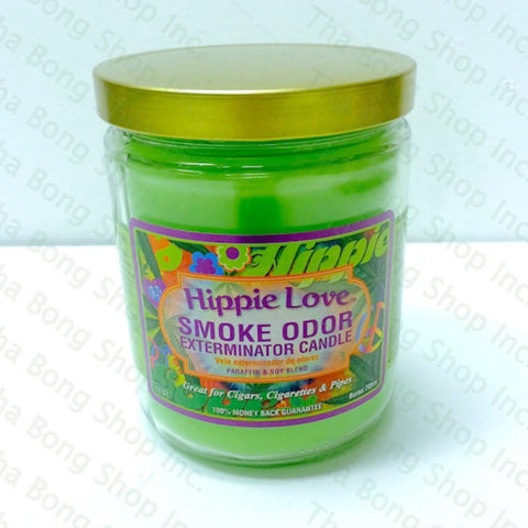 Hippie Love Smoke Odor Exterminator Candle - Tha Bong Shop