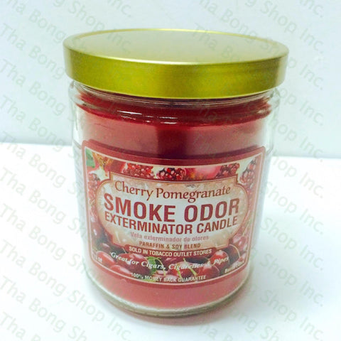 Cherry Pomegranate Smoke Odor Exterminator Candle - Tha Bong Shop