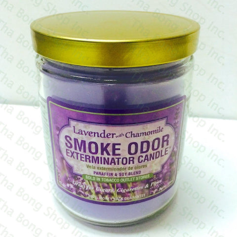 Lavender With Chamomile Smoke Odor Exterminator Candle - Tha Bong Shop
