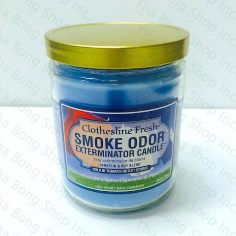Clotherline Fresh  Smoke Odor Exterminator Candle - Tha Bong Shop