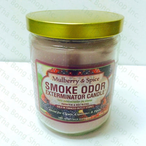 Mulberry & Spice Smoke Odor Exterminator Candle - Tha Bong Shop