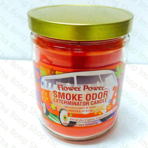 Flower Power Smoke Odor Exterminator Candle - Tha Bong Shop