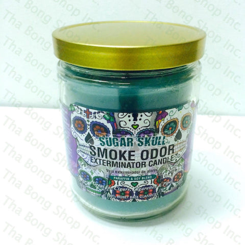 Sugar Skull Smoke Odor Exterminator Candle - Tha Bong Shop