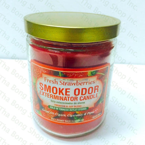 Fresh Strawberries  Smoke Odor Exterminator Candle - Tha Bong Shop