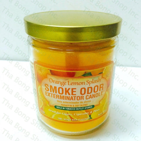 Orange Lemon Splash  Smoke Odor Exterminator Candle - Tha Bong shop