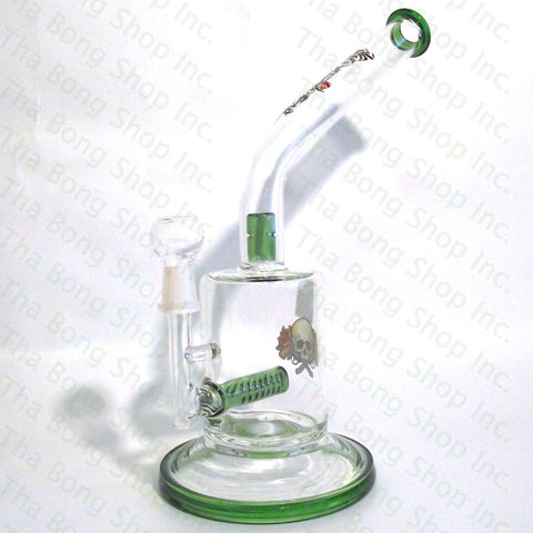 Xtreme Glass Inline Bent Neck Oil Rig With Splashguard - Tha Bong Shop