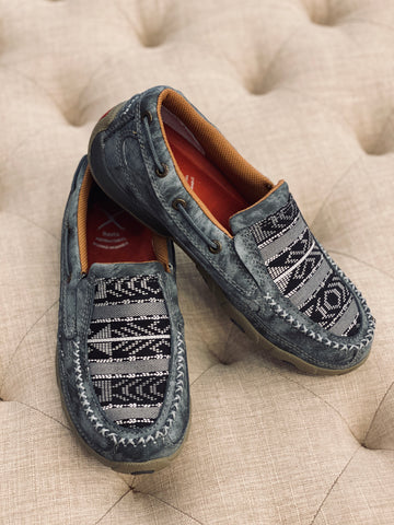 Women's Grey Multi Driving Moc