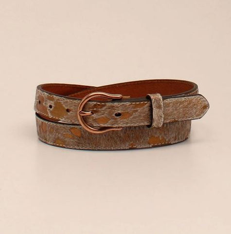 Ariat Metallic Cowhide Belt