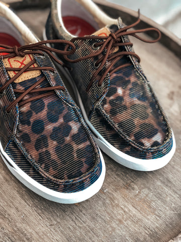 Shiny Leopard Low Cut Sneaker