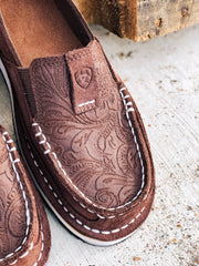 Brown Suede Floral Cruiser - Southern Soule Designs