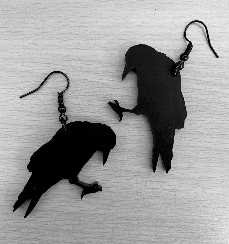 Poe's Raven Earrings
