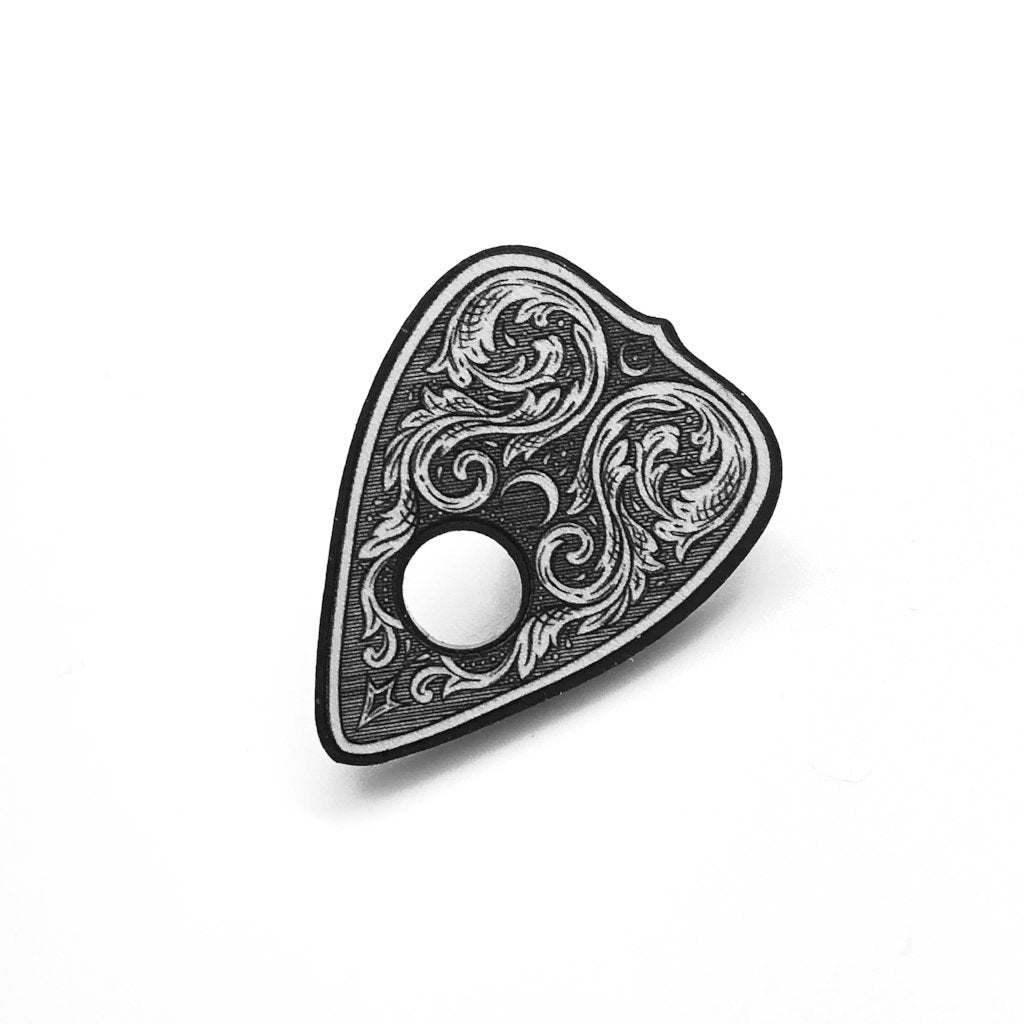 Filigree Planchette Pin Badge