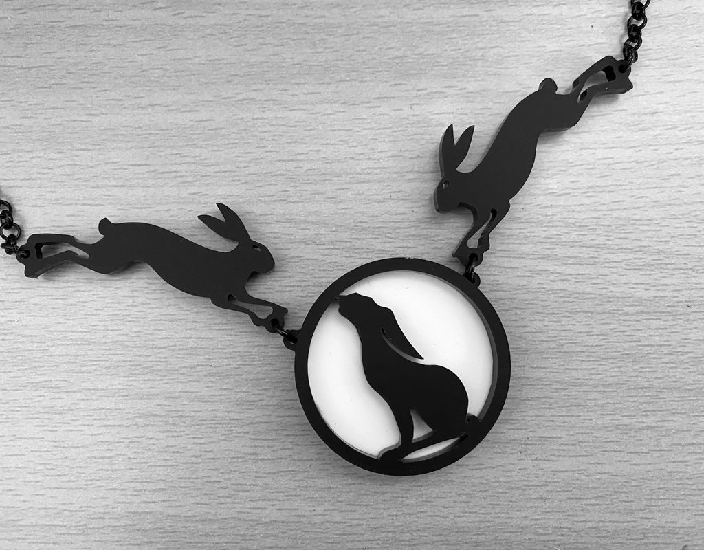 Moon Gazing Hare Statement Necklace
