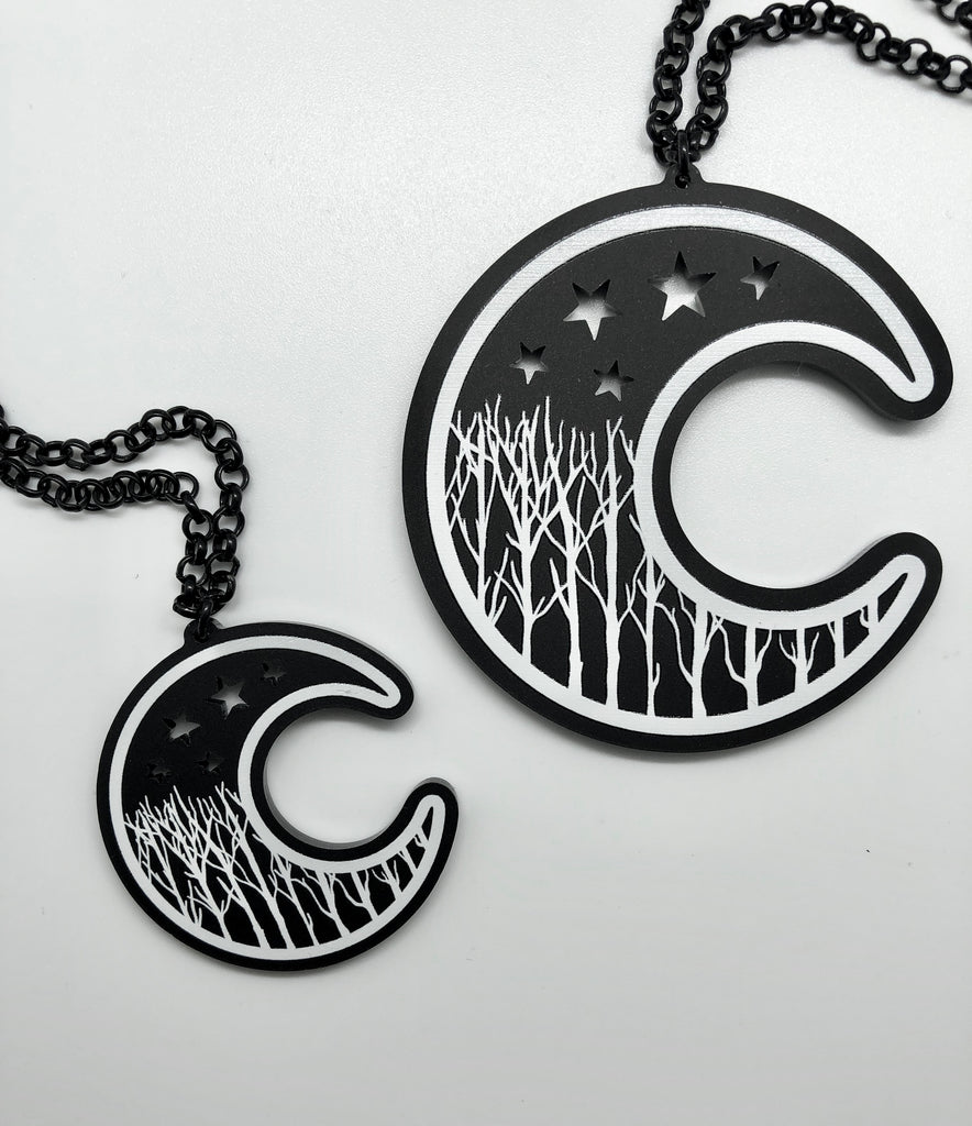 Winter Moon Necklace - Small