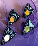 Ornate Planchette Pin Badges -  4 Designs