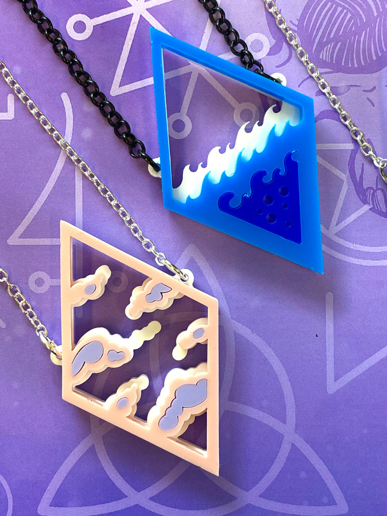 Elements Layered Necklaces. 4 designs.