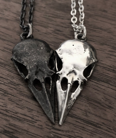 Bird Skull Necklace - Sterling Silver